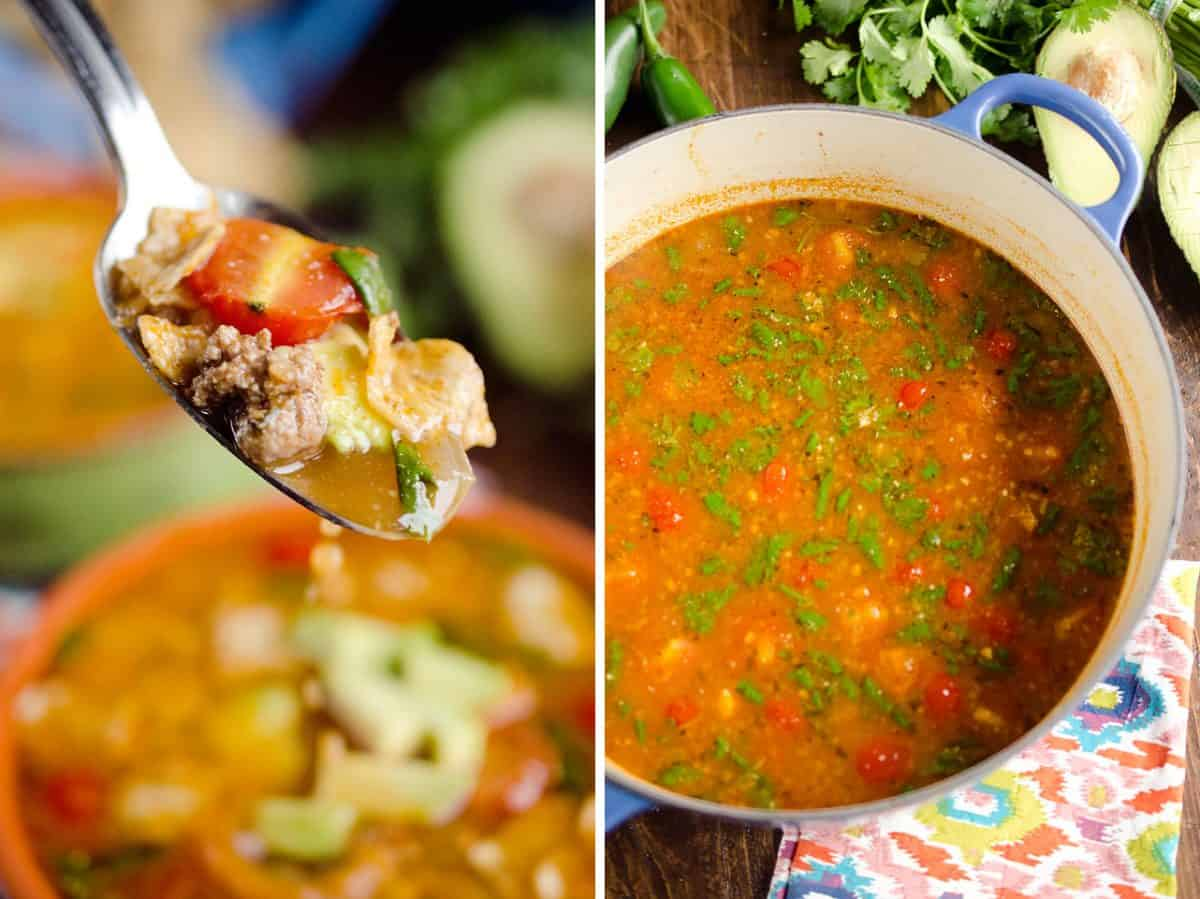 Light Taco Soup is a healthy and easy 15 minute meal full of wholesome ingredients and bold flavors!