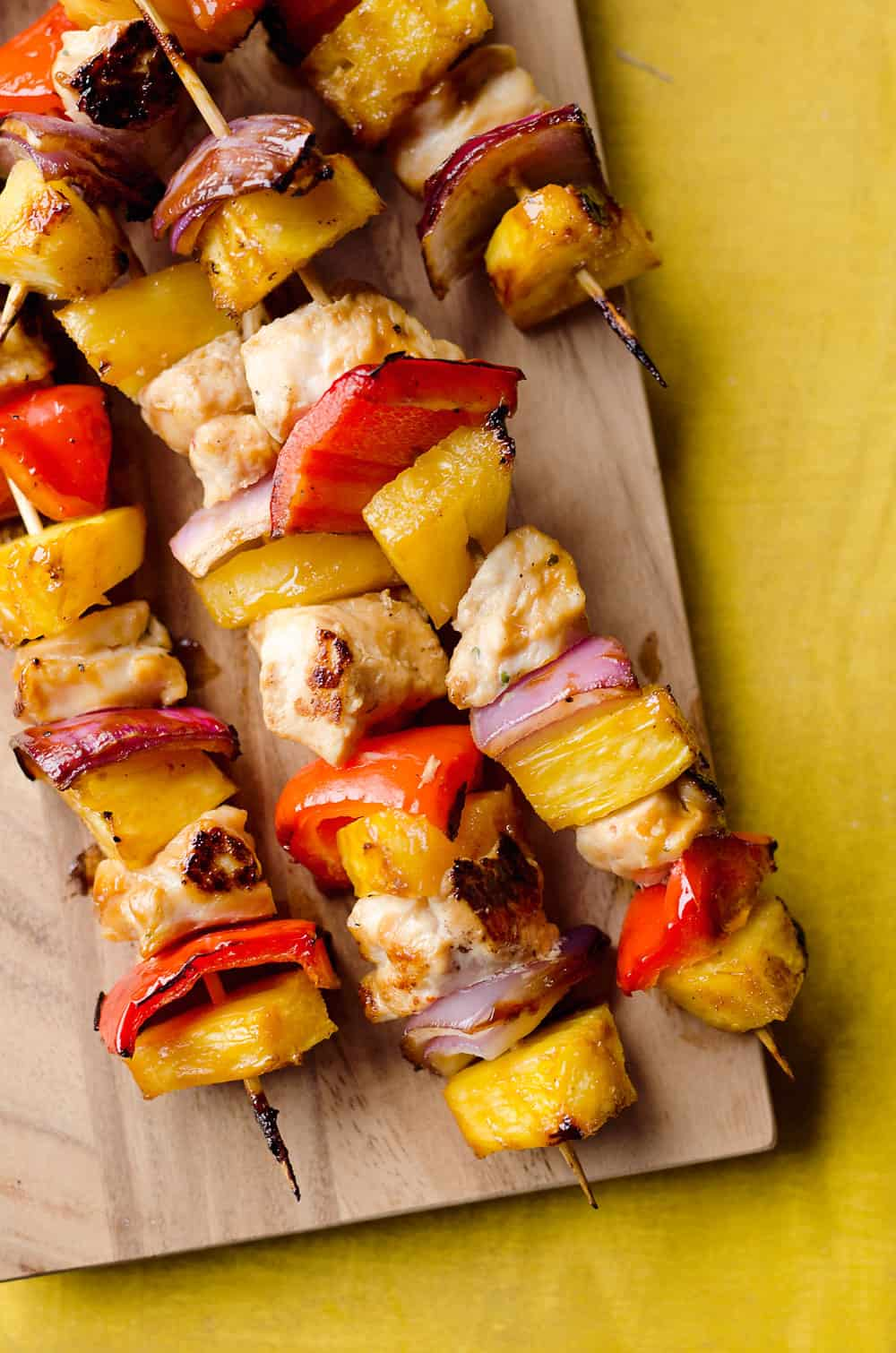 Teriyaki Chicken Kabobs Healthy Dinner Idea