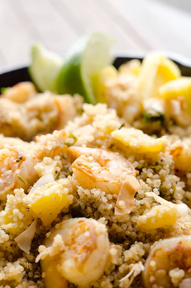 Light Coconut Shrimp & Pineapple Quinoa Skillet