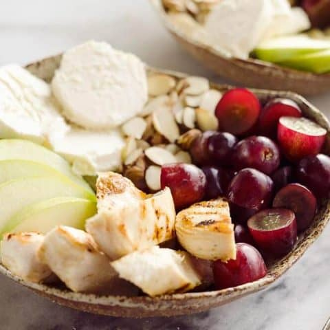 Fruit & Goat Cheese Chicken Bowls