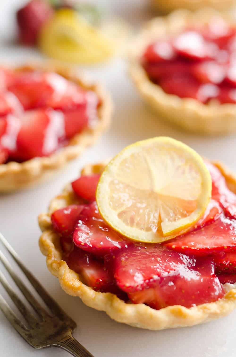 Mini Strawberry Lemon Pies - Fresh Dessert Recipe