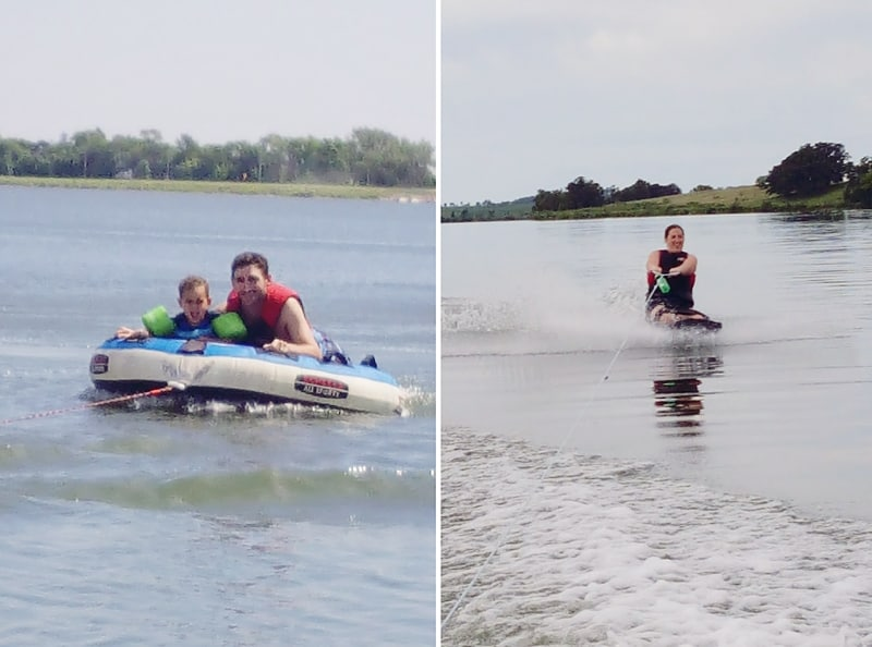 Lake boating - tubing - kneeboarding