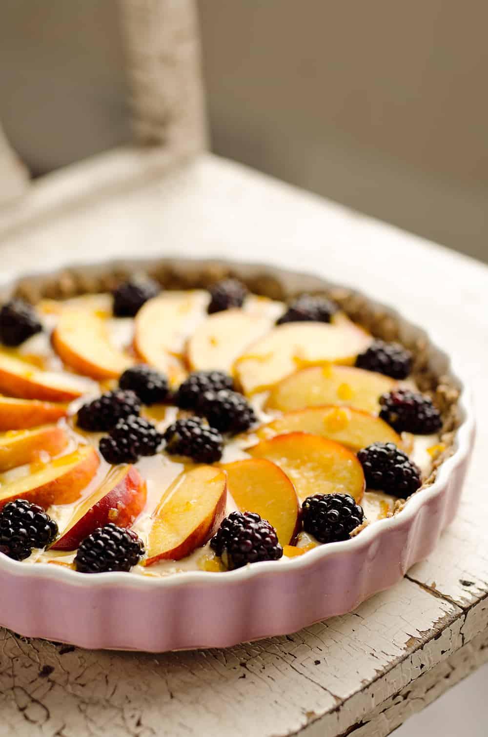 ... orange, cream cheese and Greek yogurt layer and topped with fresh