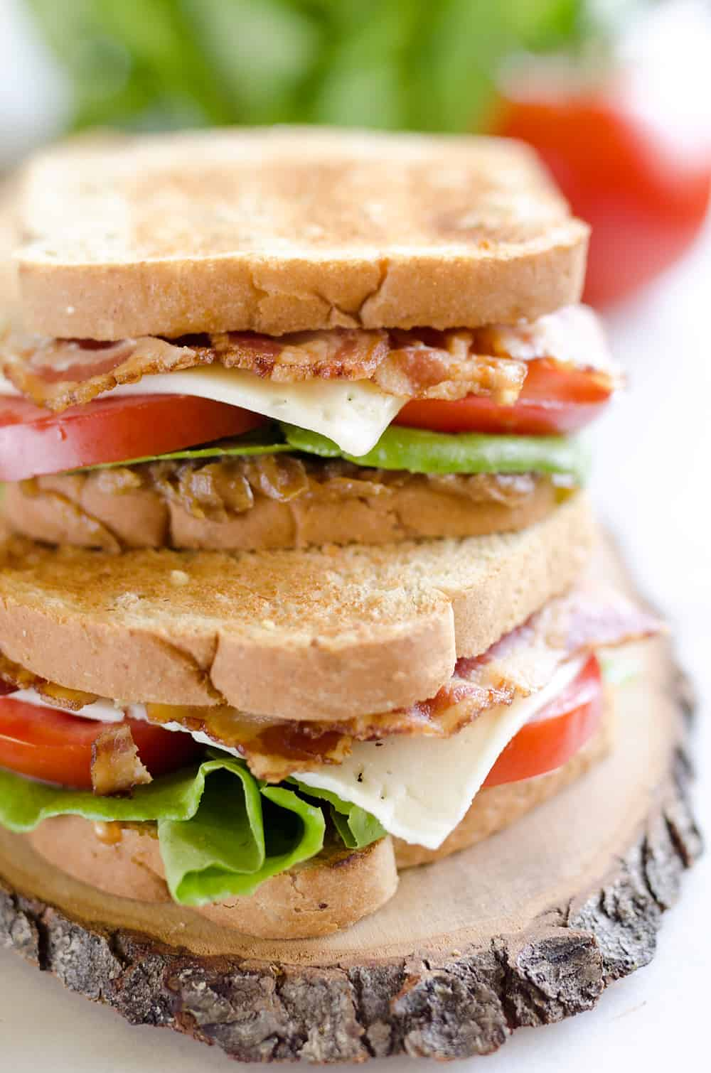 This Ultimate BLT is loaded with all the traditional goodness of a BLT, but with a flavorful twist. The addition of sweet caramelized onions and Havarti cheese take this sandwich to the next level!