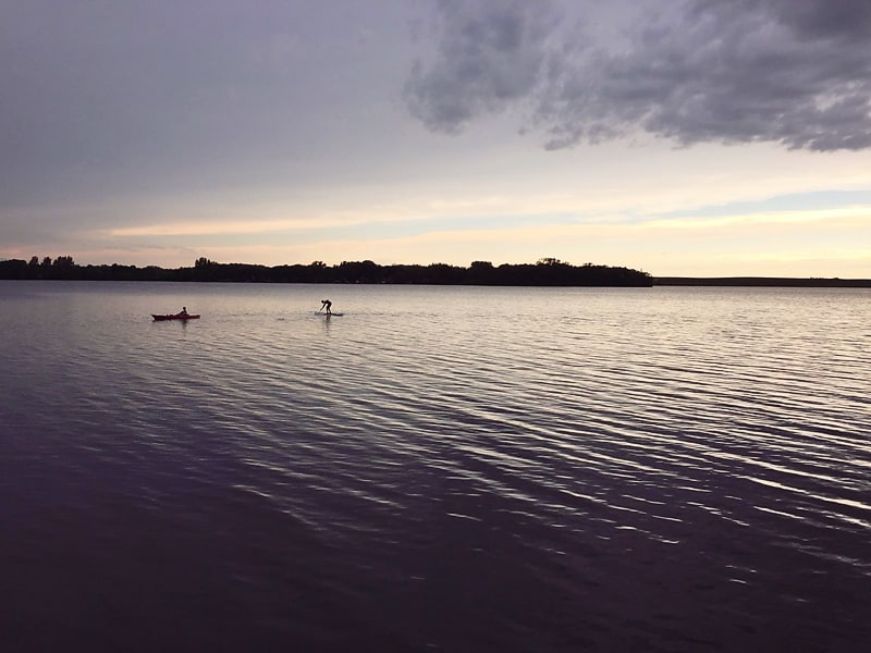 beautiful-Minnesota-lake---canoe-paddle-board