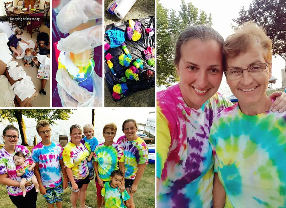 family tie dying tshirts kids