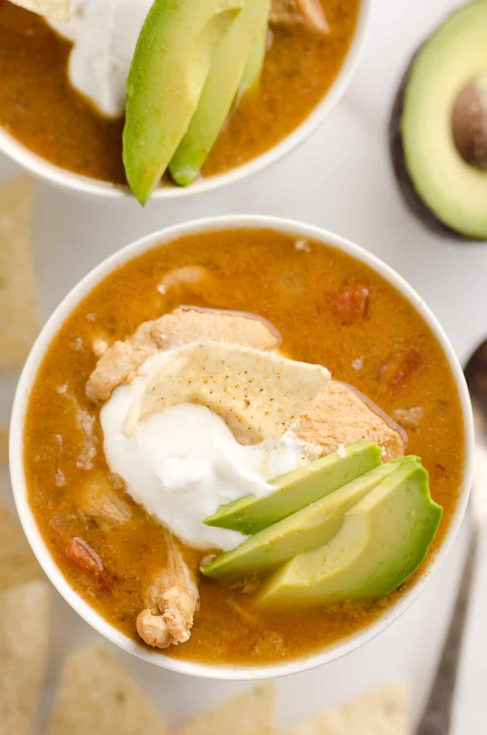 Pressure Cooker Chicken Tortilla Soup is a quick and easy soup recipe ...