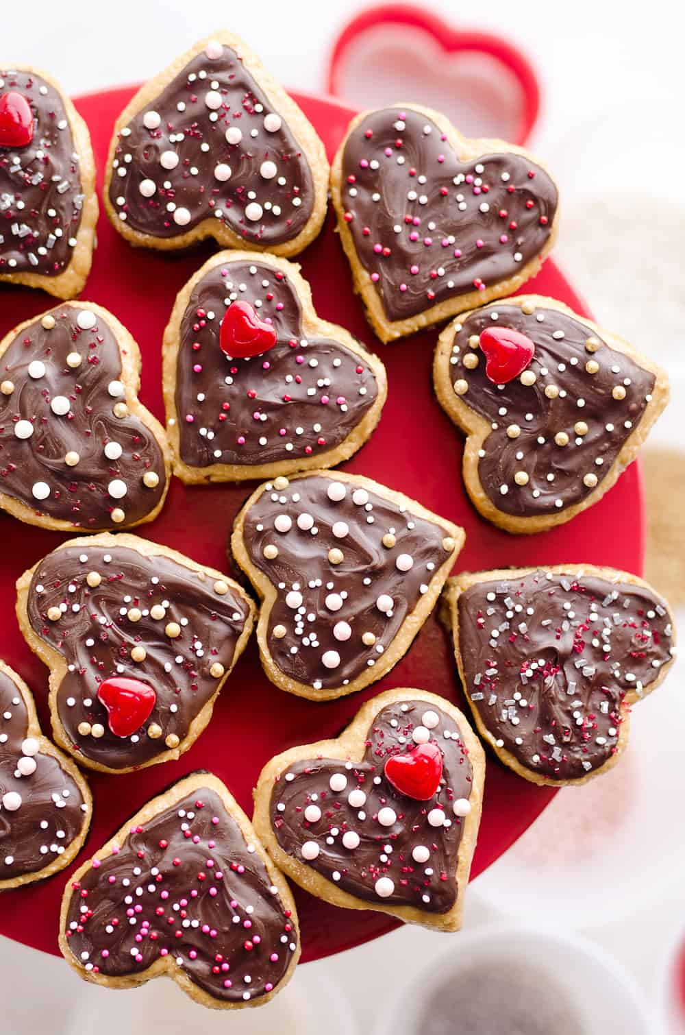 Peanut Butter Buckeye Brownie Hearts are the perfect sweet for your special Valentine. They combine two of the best desserts into one amazing treat with brownies and peanut butter buckeyes!