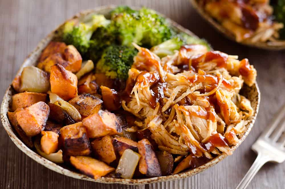 Bbq Chicken Roasted Sweet Potato Bowls