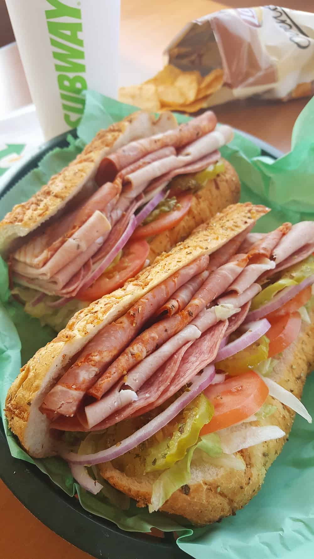 SUBWAY Italian Hero is a flavorful sub sandwich with authentic Italian flavors. Fresh bread is topped with Capicola, Mortadella, Genoa Salami, Provolone, your preferred veggies, oregano, oil and red wine vinegar for a delicious and convenient meal.