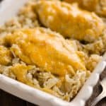 Pressure Cooker Salsa Verde Chicken & Rice is a quick and easy dinner recipe made in your Instant Pot in less than 30 minutes! Zesty rice is topped with cheesy chicken breasts for a one-pot meal the whole family will love.
