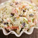 Apple Cranberry Poppy Seed Slaw Salad bowl