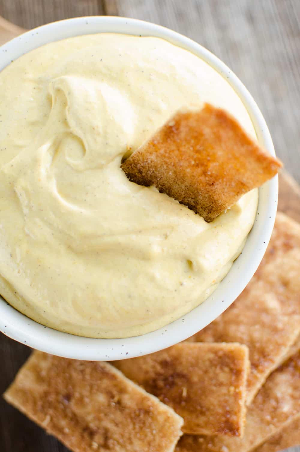 Pumpkin Mousse Dip with Pie Crust Dippers