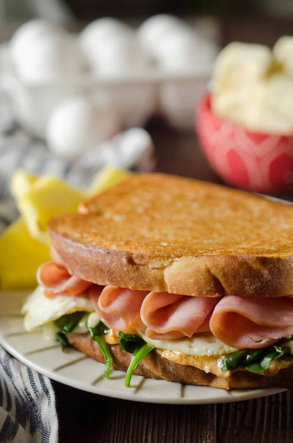 Spicy Ham & Egg Sandwich breakfast