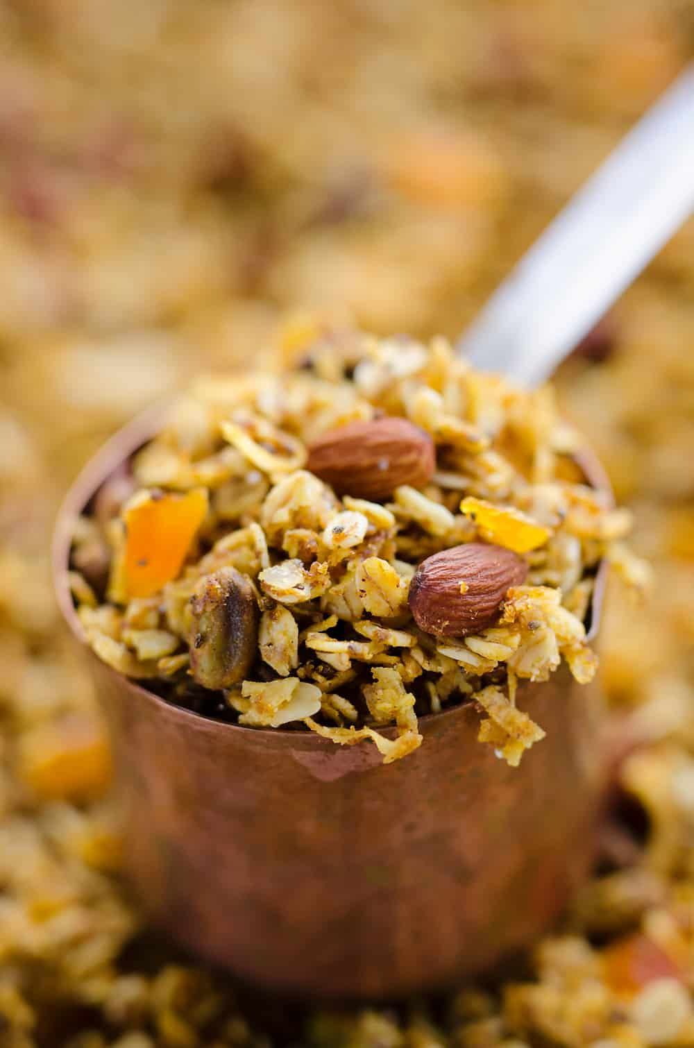 Pumpkin Coconut Granola serving