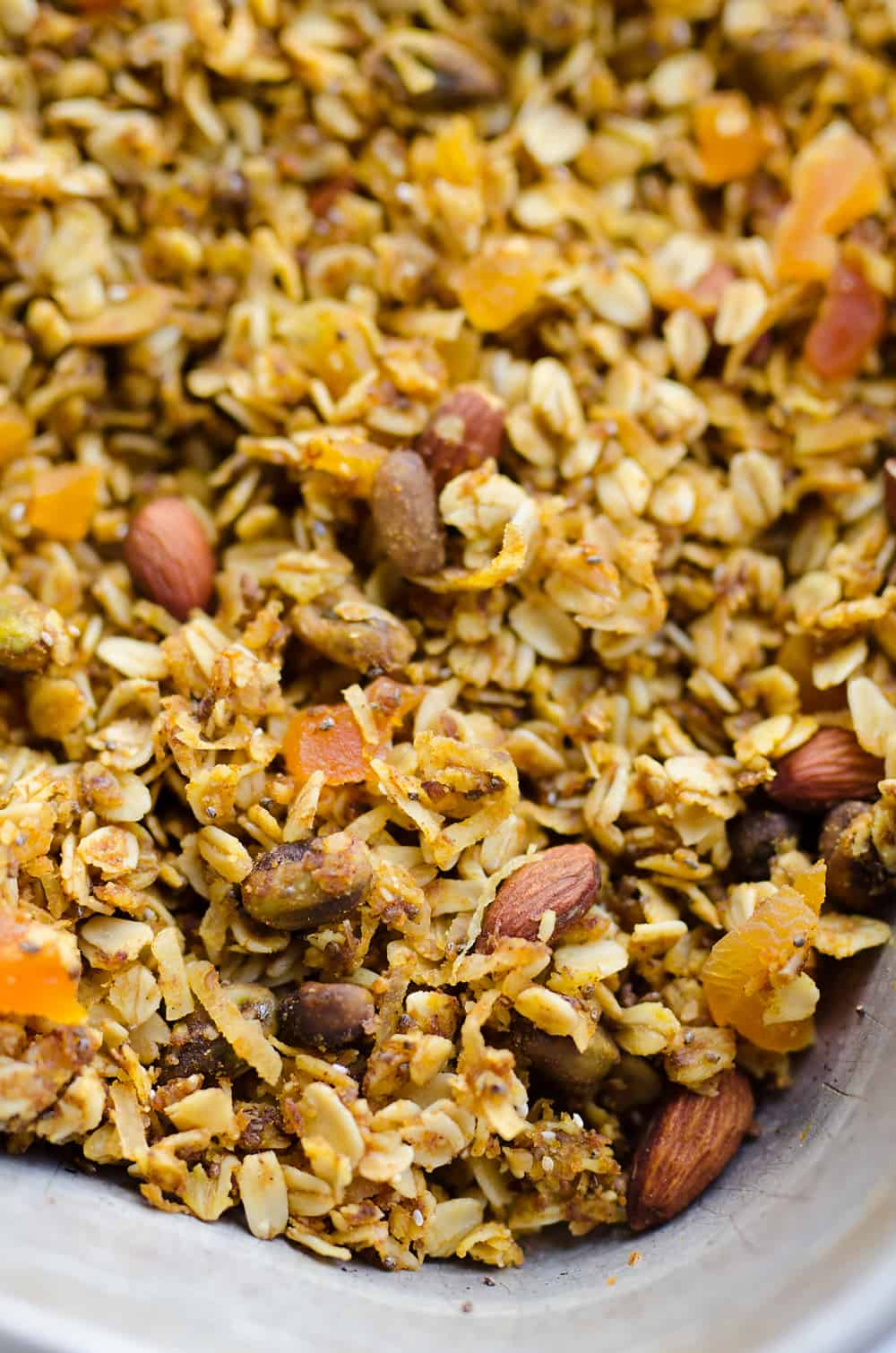Pumpkin Coconut Granola in sheet pan