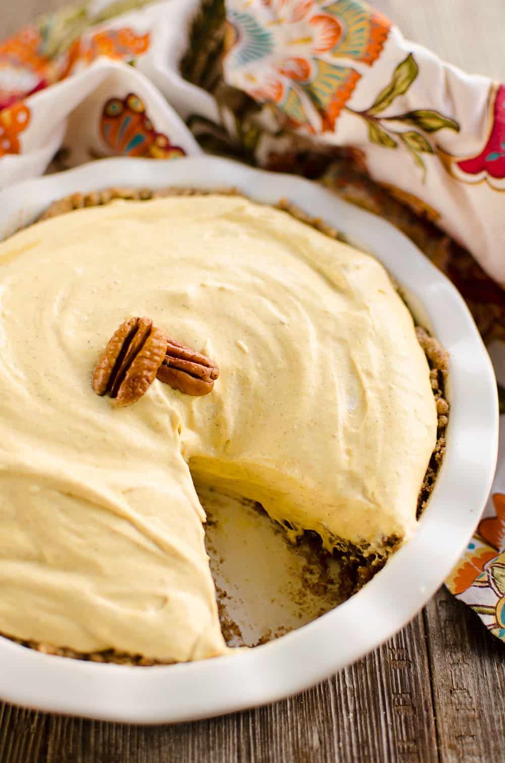 Pumpkin Mousse Pie slice