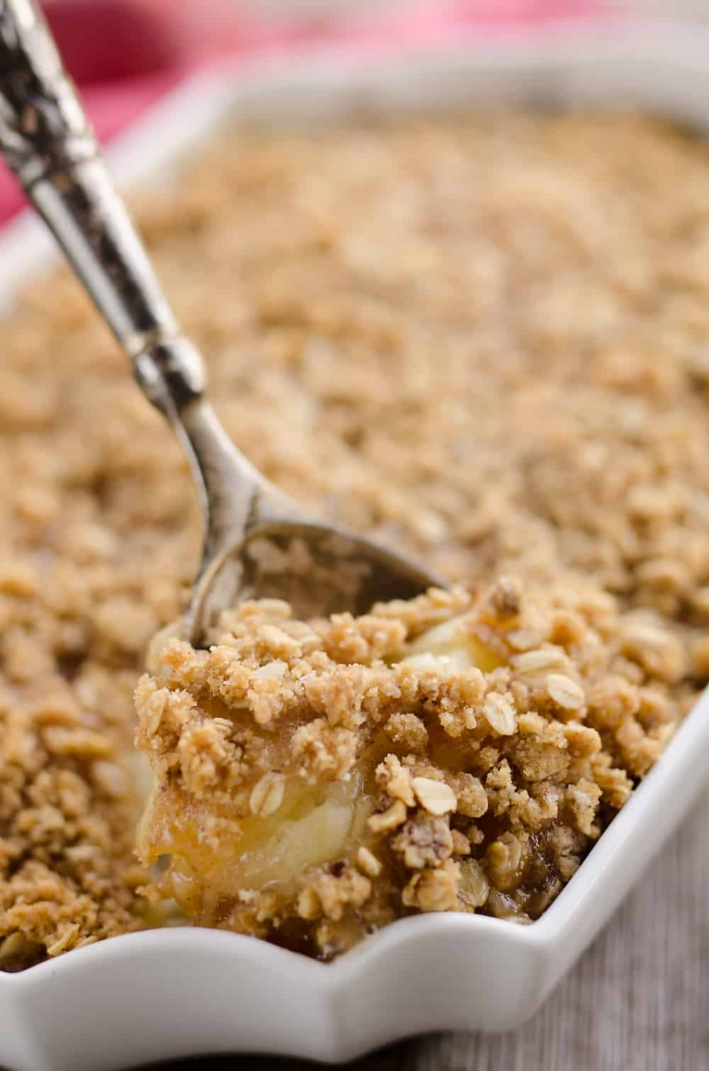 Spiralized Apple Crisp Recipe scoop