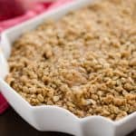 Spiralized Apple Crisp Recipe in pan