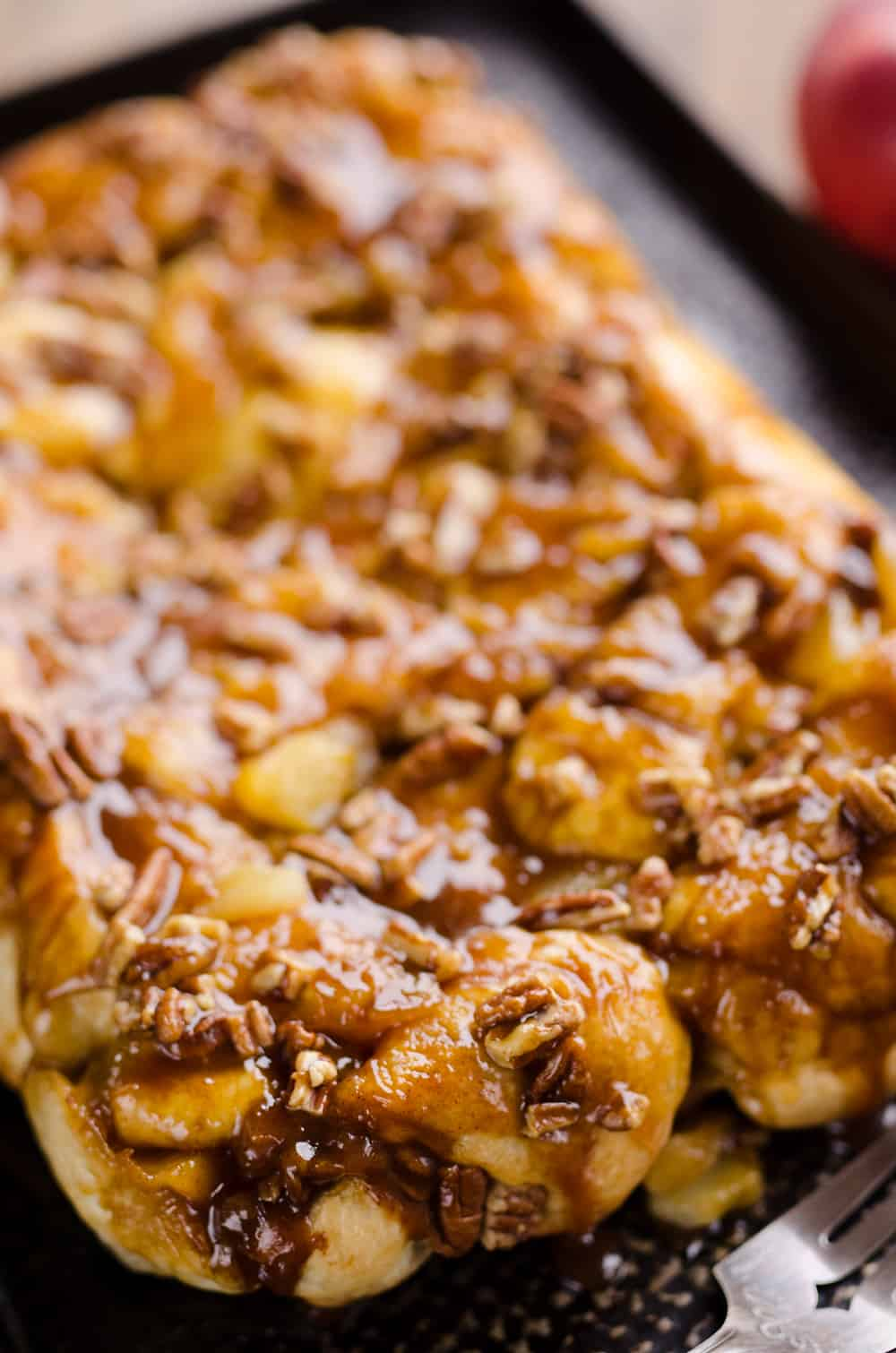 Caramel Apple Pecan Monkey Bread pan