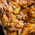 Caramel Apple Pecan Monkey Bread closeup