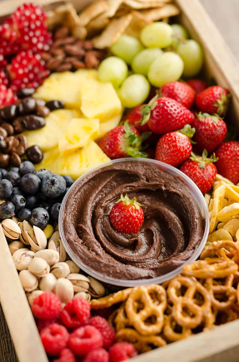 Healthy Fruit Chocolate Party Tray