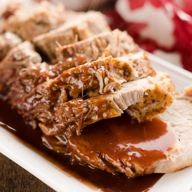 Pressure Cooker Cranberry Balsamic Pork Loin