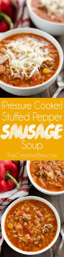 Pressure Cooker Stuffed Pepper Sausage Soup