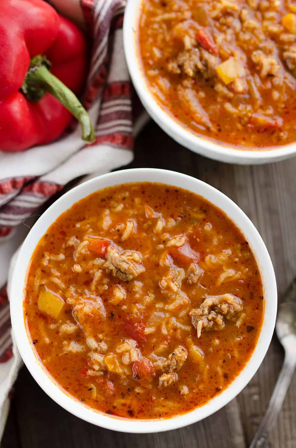 Pressure Cooker Stuffed Pepper Sausage Soup Instant Pot