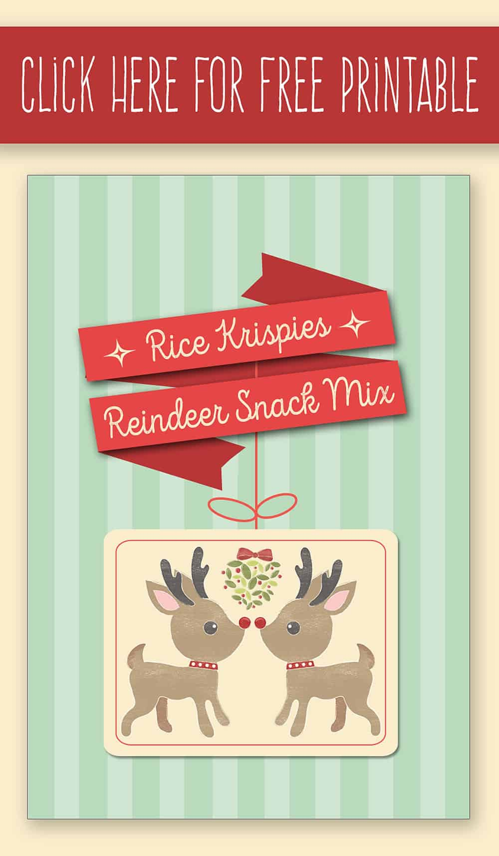 Rice Krispies Reindeer Snack Mix with FREE Printable