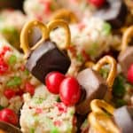 Rice Krispies Reindeer Snack Mix close up