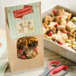 Rice Krispies Reindeer Snack Mix with FREE Printable in treat bag