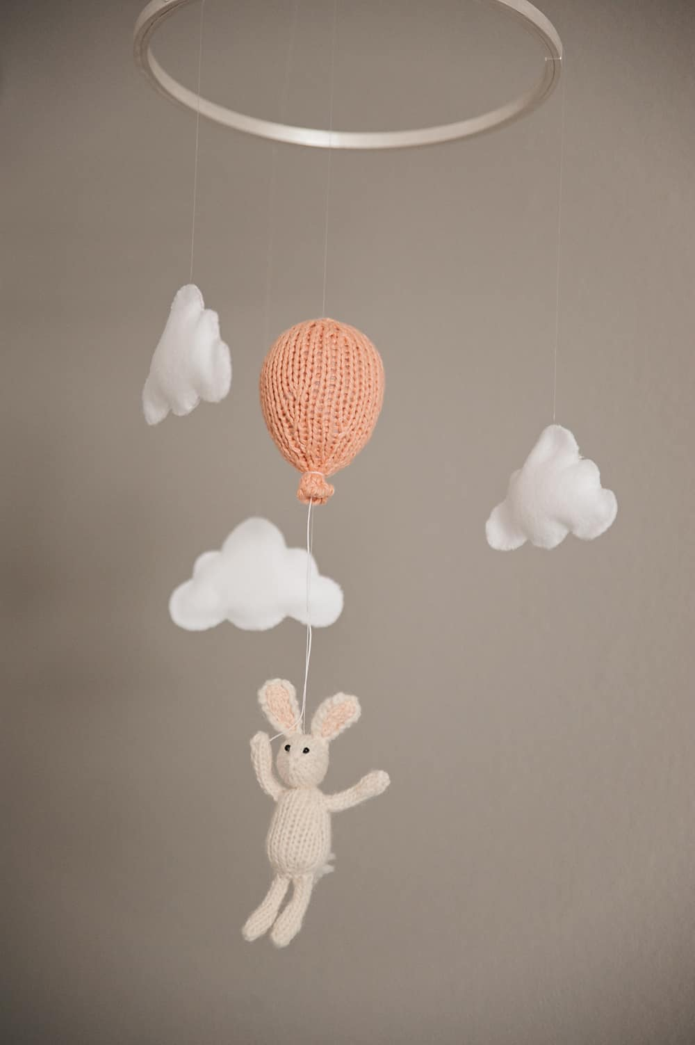Boy Girl Twin Bunny Nursery Reveal - Crocheted Mobile