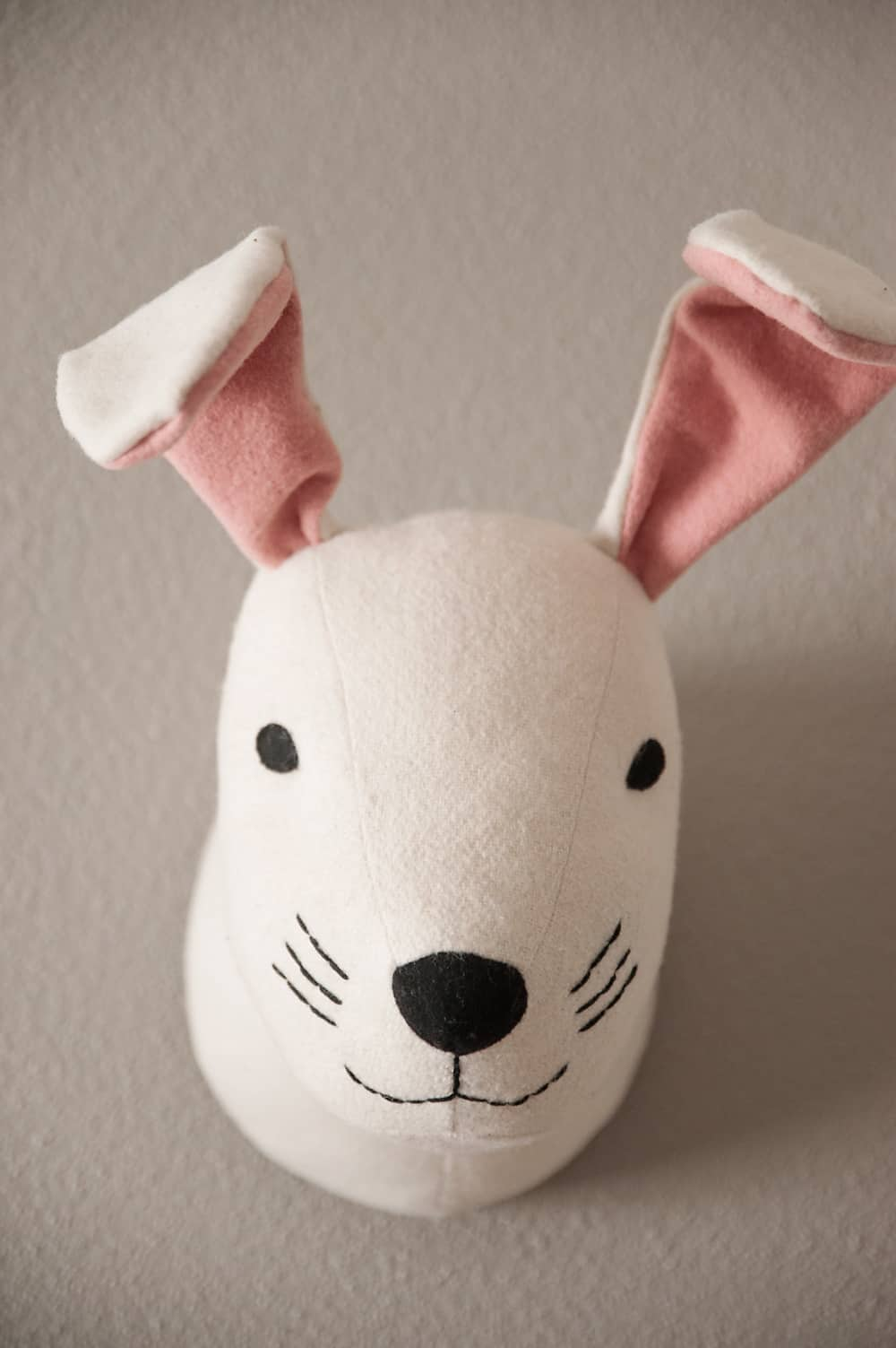Boy Girl Twin Bunny Nursery Reveal - Mounted Rabbit Head