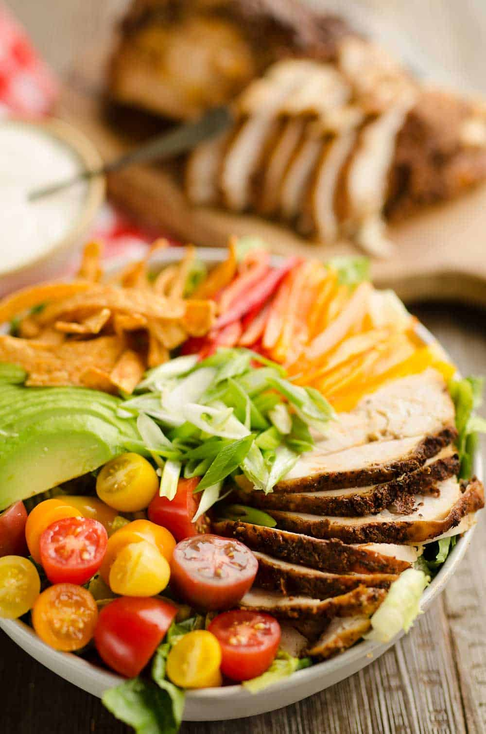 Cajun Turkey Salad with Creamy Yogurt Dressing