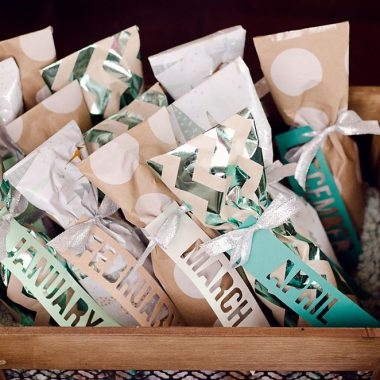 DIY Wine of the Month Gift Basket Idea