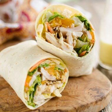 Light & Crunchy Orange Chicken Wrap