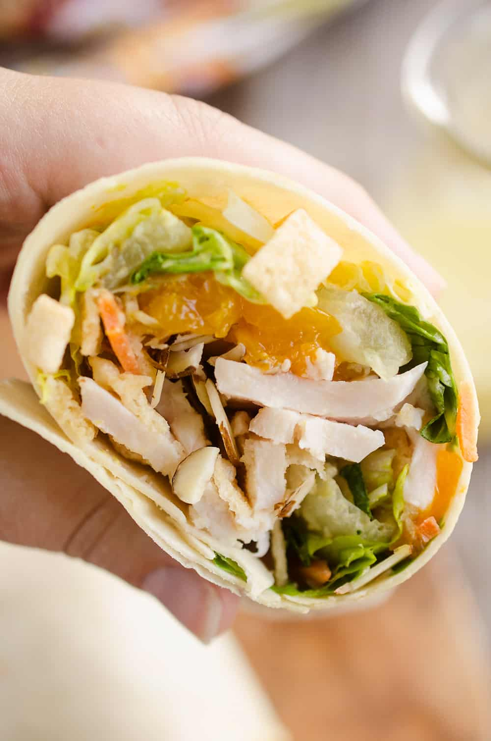 Light & Crunchy Orange Chicken Wrap