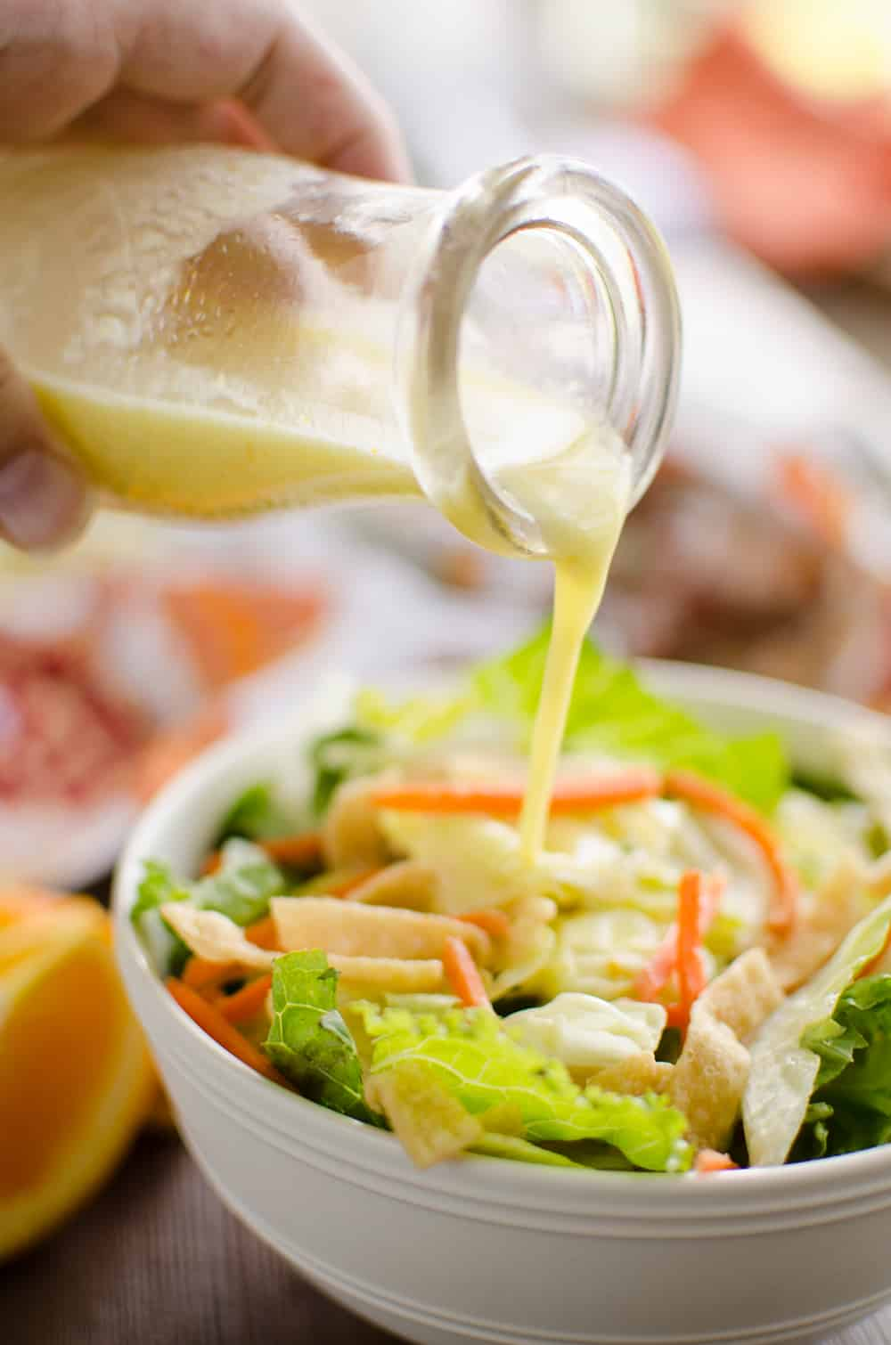 Light Orange Ginger Vinaigrette on salad