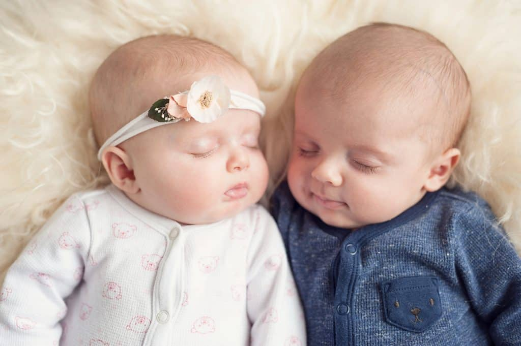 3 Month Old boy girl twins