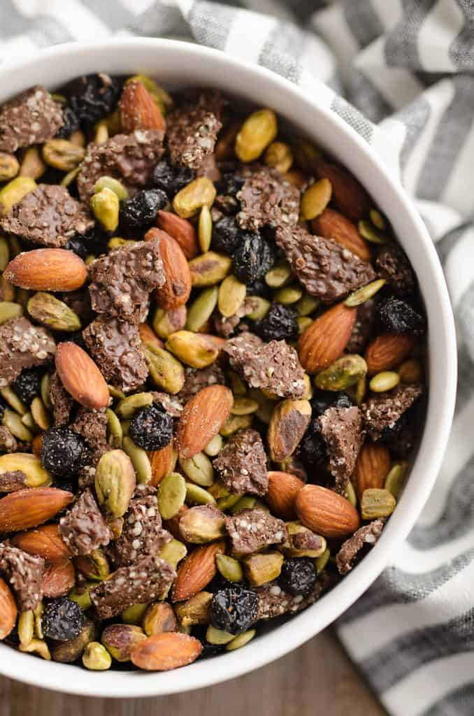 Blueberry Dark Chocolate Superfood Trail Mix serving