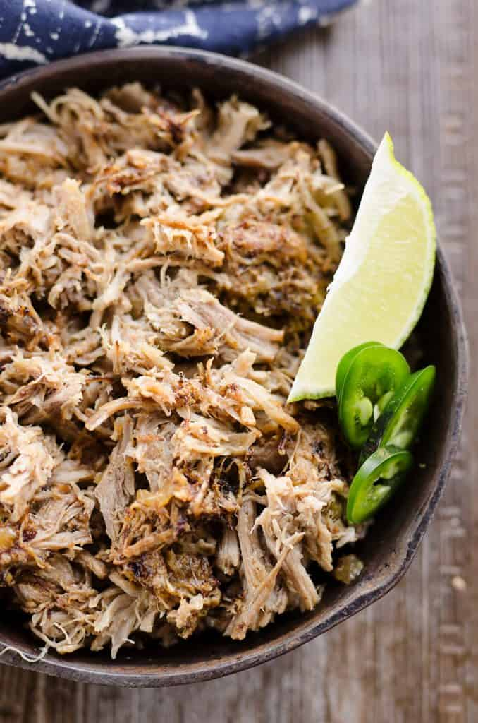 Pressure Cooker Pork Carnitas in skillet