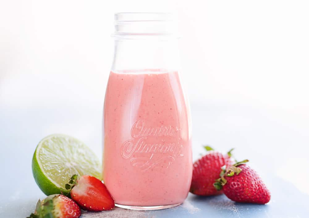 Strawberry Lime Vinaigrette in container