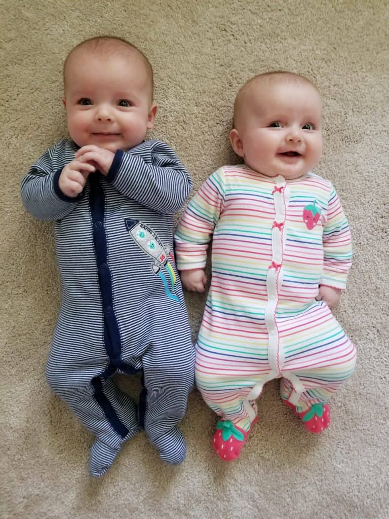4 month old boy girl twins