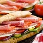 Italian Hero Sub Sandwich