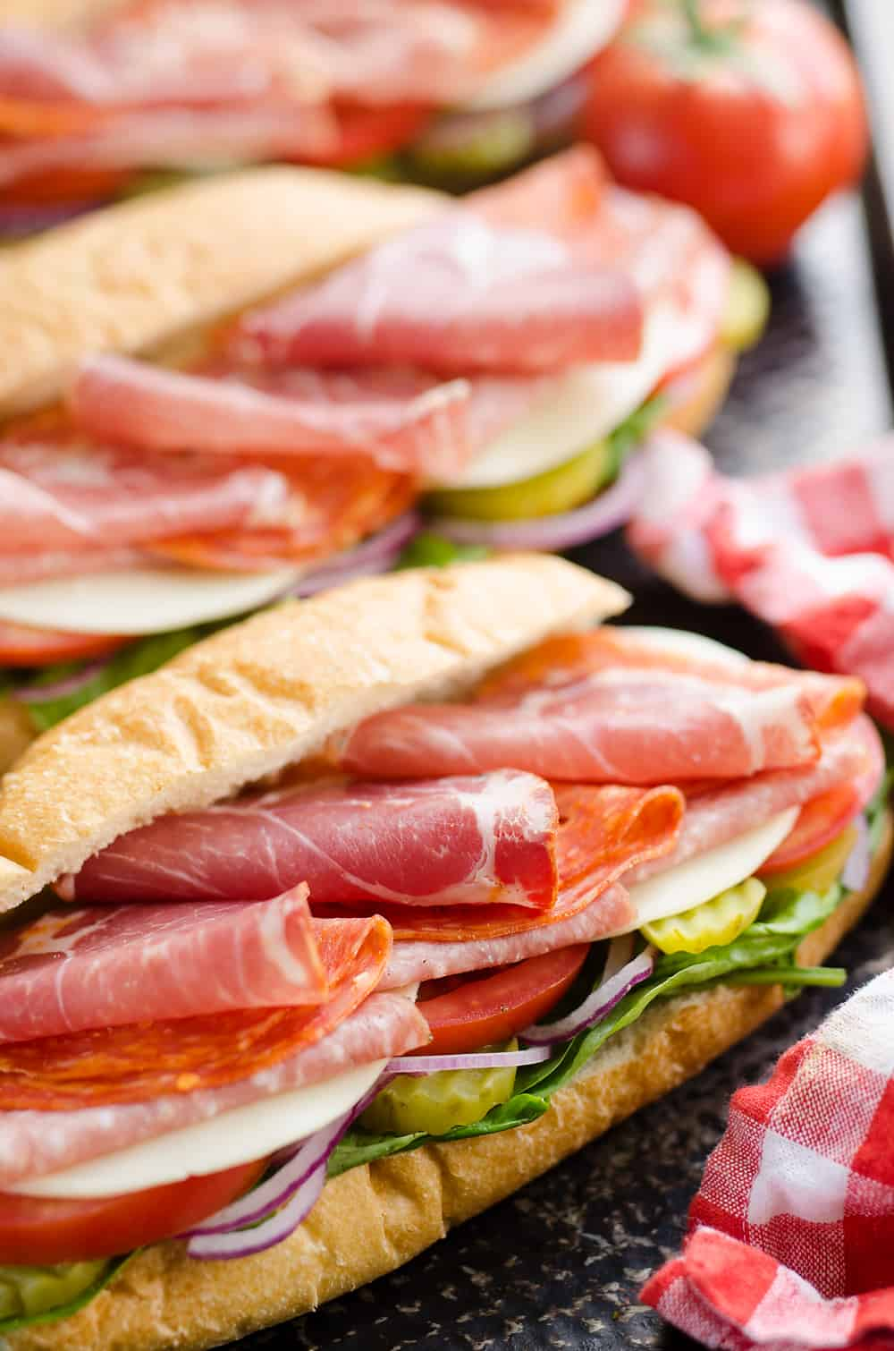 Italian Hero Sub Sandwich serving