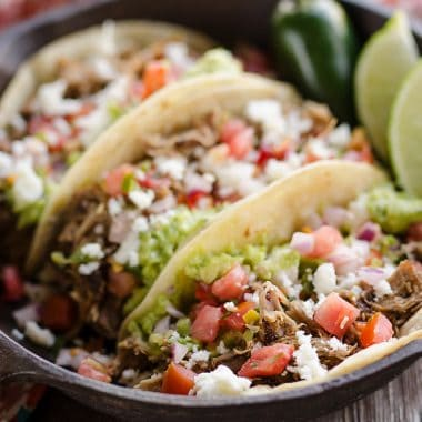 Pork Carnitas Street Tacos serving