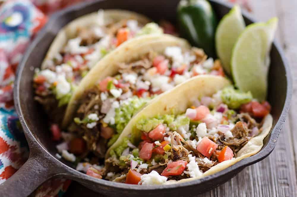 Pork Carnitas Street Tacos serving