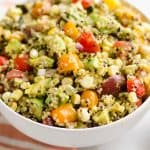 Southwest Vegetable Quinoa Salad closeup
