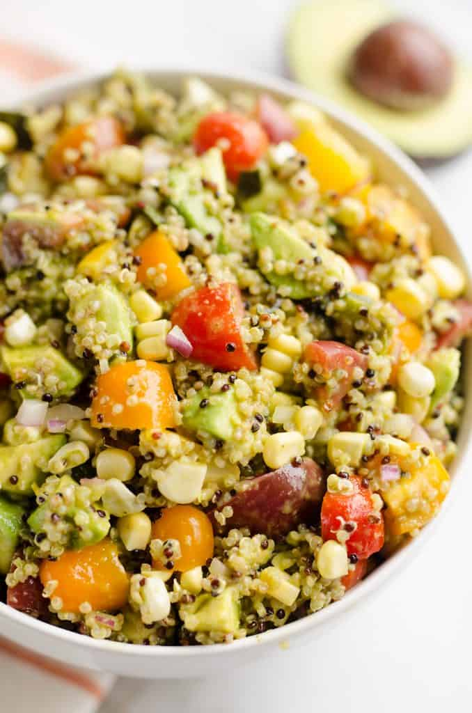 Southwest Vegetable Quinoa Salad in bowl